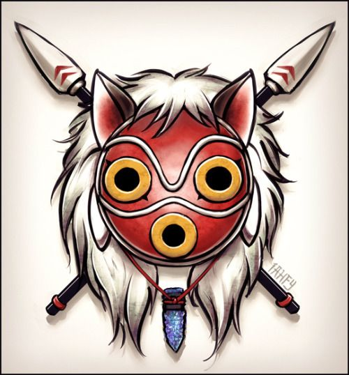 Mononoke Tattoo Design - http://iahfy.tumblr.com/post ...