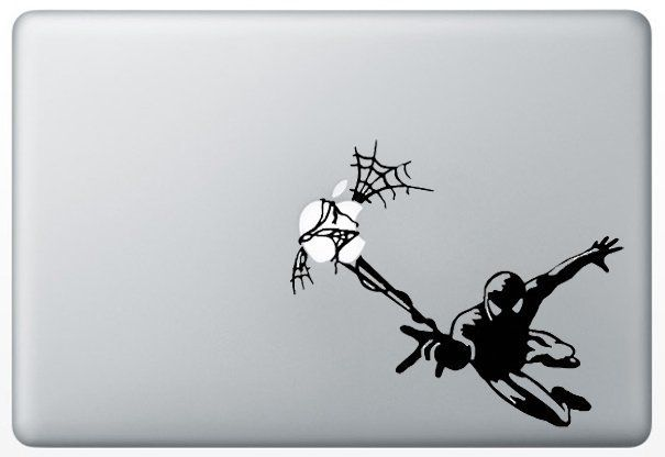 Macbook Humor Decal Sticker Spiderman