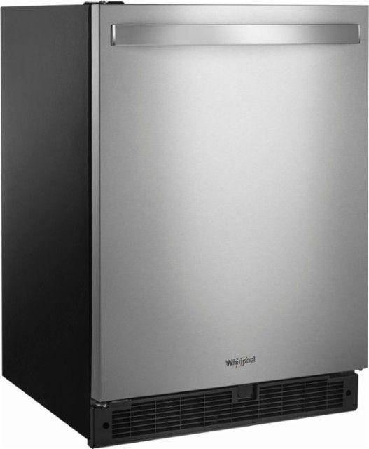 Whirlpool 51 Cu Ft Mini Fridge Stainless steel Mini fridge
