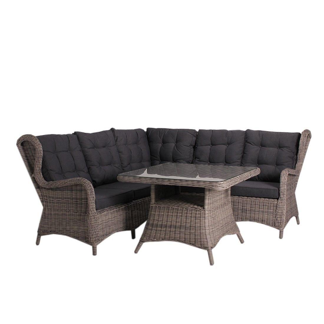 Argos Dininglounge 4 Teilig Geflecht   Lounge Sets   Loungemöbel   Garten U0026