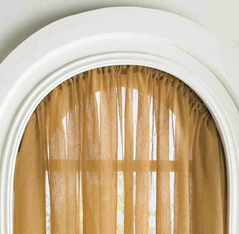 Flexible curtain rod for arched window window treatments for Arched bay windows