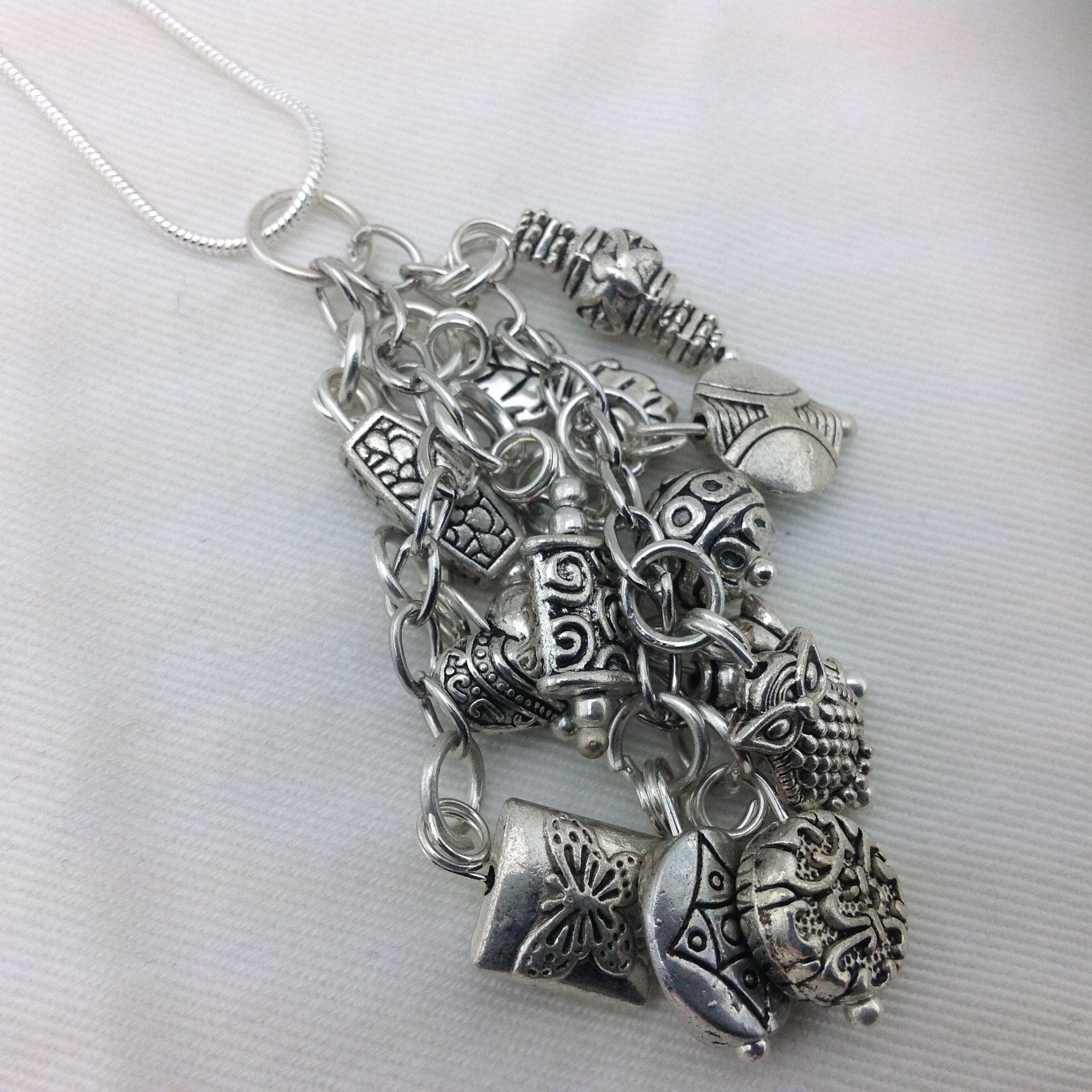 Tibetan Silver Charm Necklace