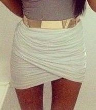 Skirt with gold belt