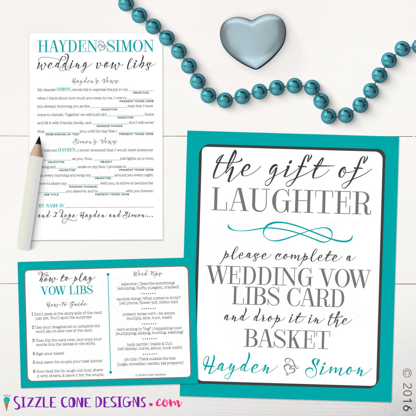 Custom Wedding Vow Mad Libs Printed Or Printable The Hilariously Bizarre