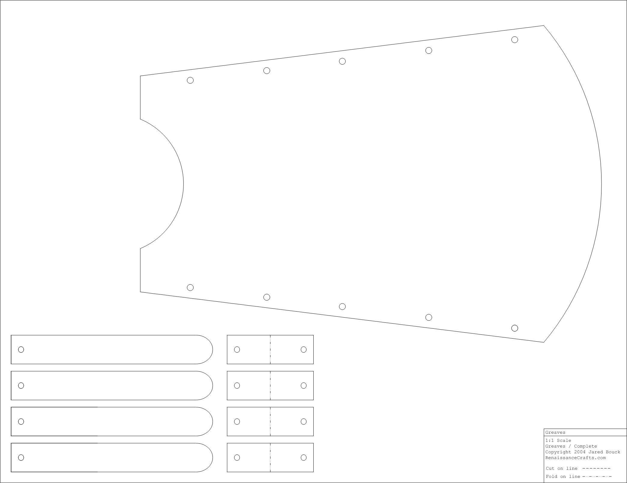 Greaves Pattern Pfeil Und Bogen Lederrüstung Pfeil