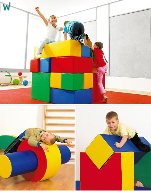 Schaumstoff w rfelset aus einfachen oder komplexen grundformen kinderzimmer - Turnen kinderzimmer ...