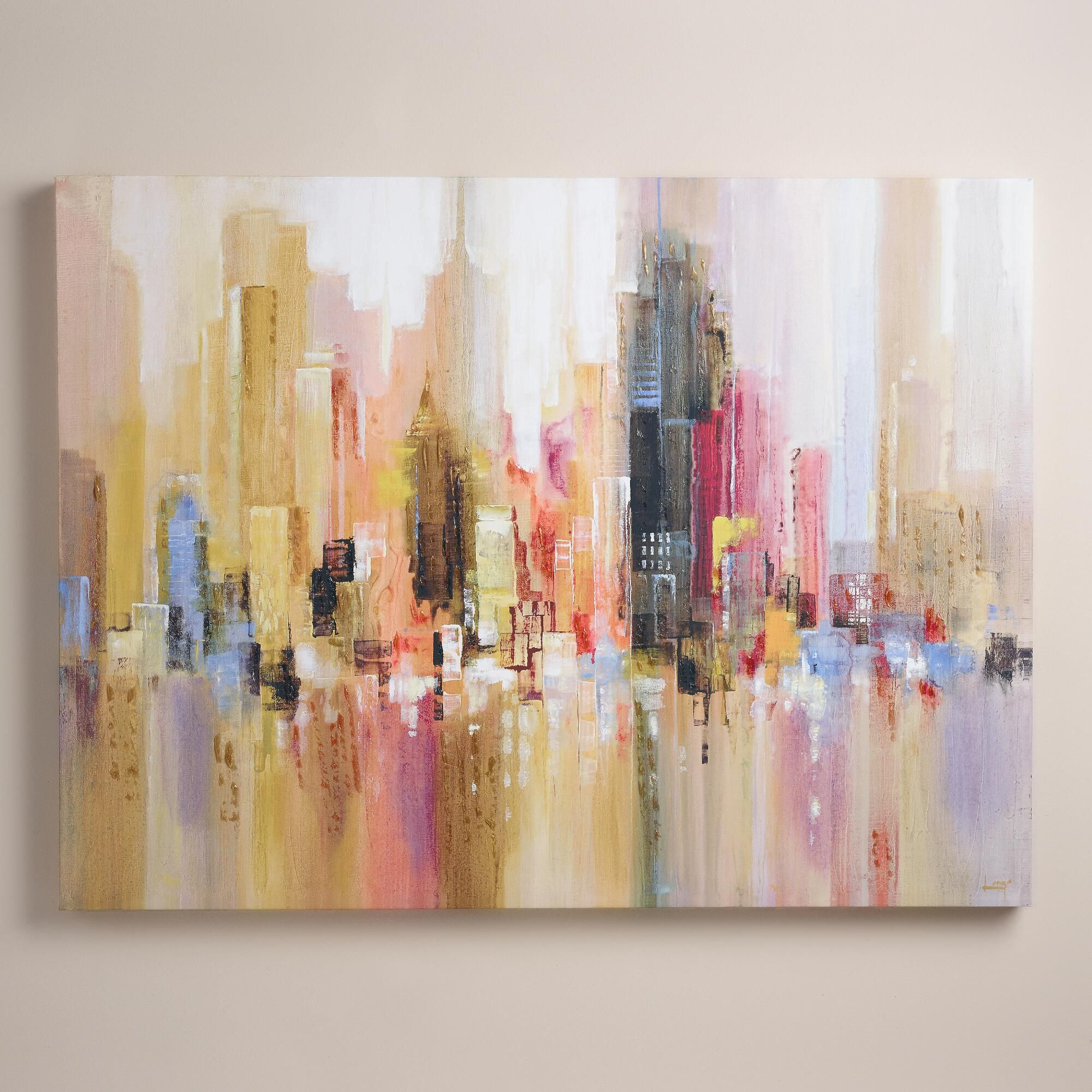 City spree bought about nine months ago gorgeous for World market wall decor