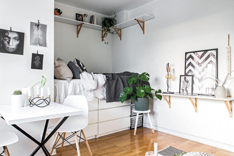 A Tiny But Charming Studio Apartment Daily Dream Decor Dortoir