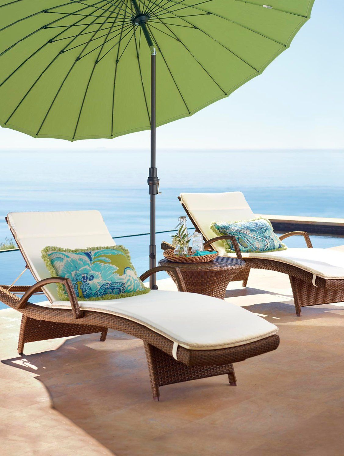 Balencia chaise lounges with arms set of two outdoor