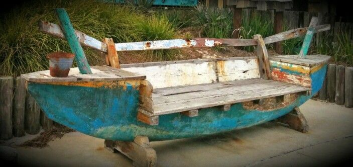 Superb Bench Made Out Of An Old Wooden Boat In 2019 Boat Evergreenethics Interior Chair Design Evergreenethicsorg