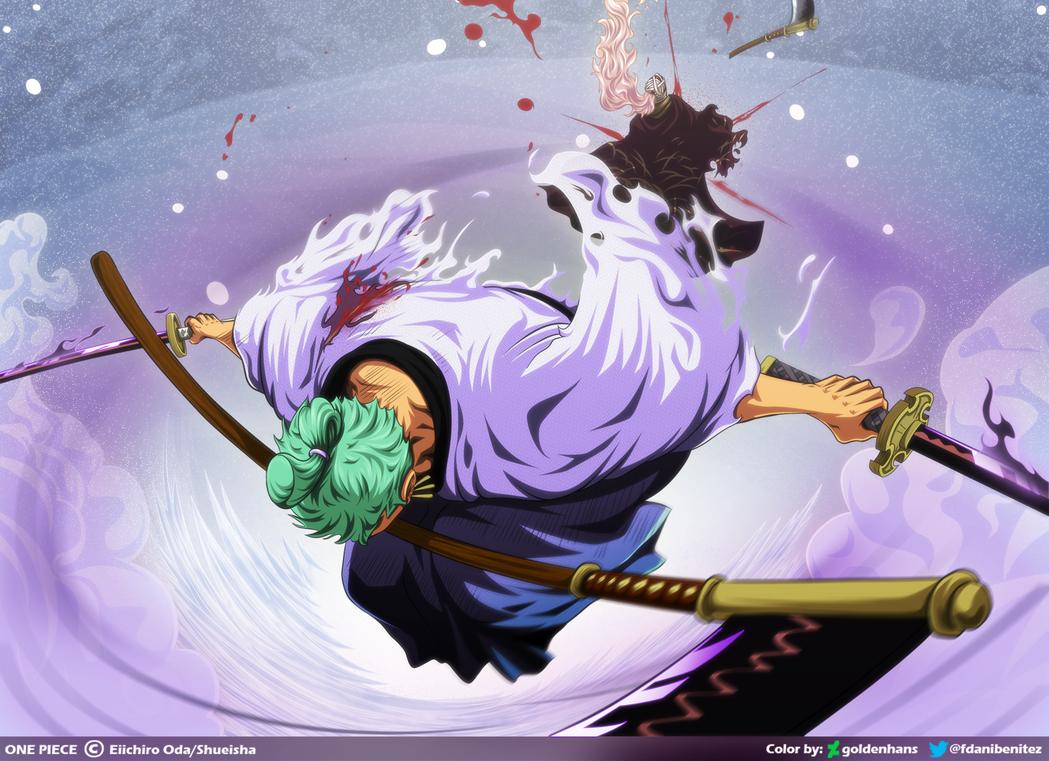 santoryu rengoku onigiri one piece cap 937 by goldenhans one piece manga one piece fanart roronoa zoro
