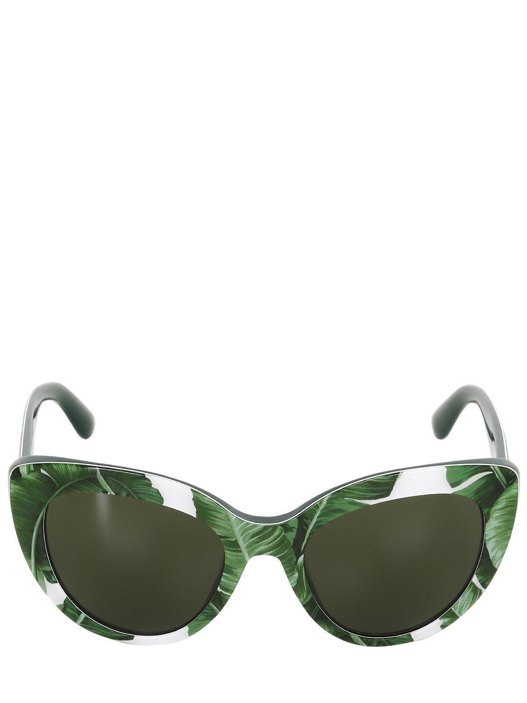 TROPICAL PALM PRINTS    Dolce   Gabbana Banana Leaf Acetate Cat-eye  Sunglasses   4f1eb278b3