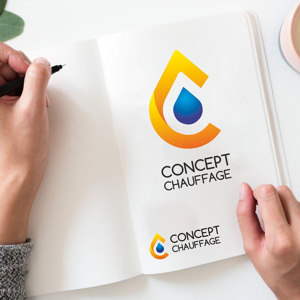 Logo Chauffage Sanitaire En 2020 Chauffage Sanitaire Sanitaire Creation Carte De Visite