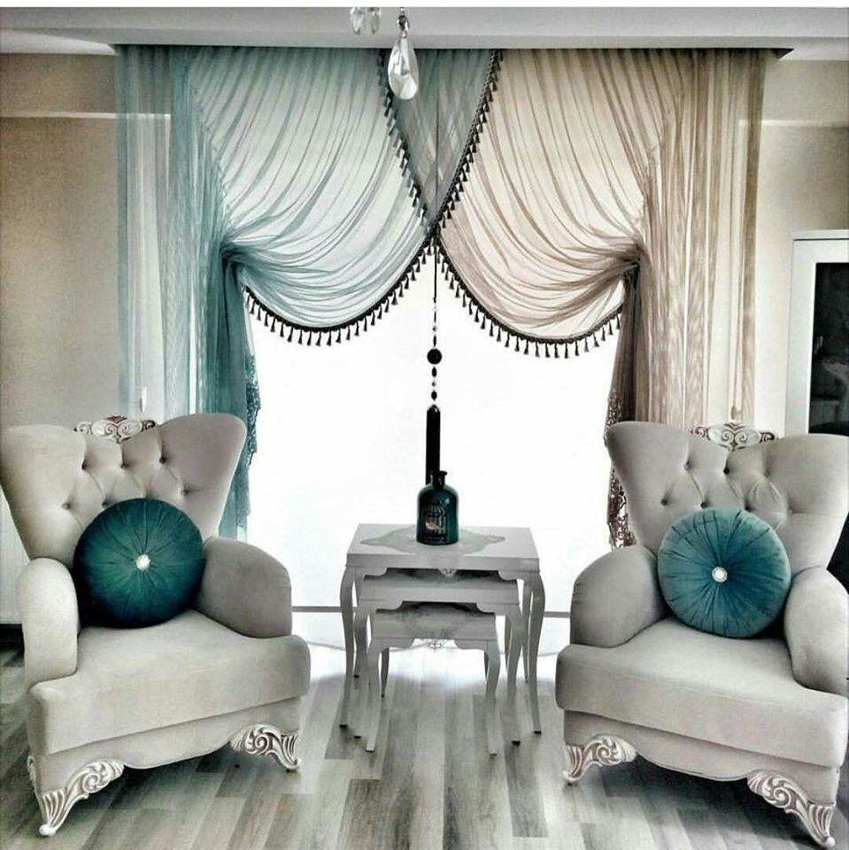 front room dining area redo | zubeyde | Pinterest | Cortinas ...