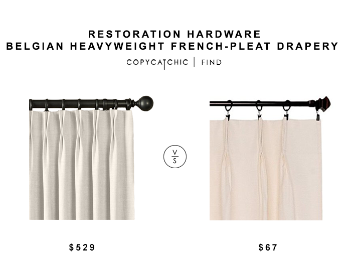 Restoration Hardware Belgian Heavyweight French Pleat Drapery