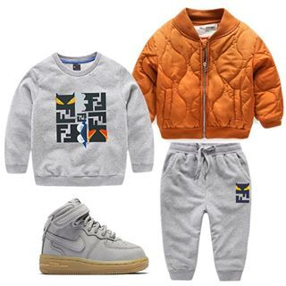 1279636cd outfitgrid  Monster Set - Grey   Basix Bomber - Spice   footwear ...