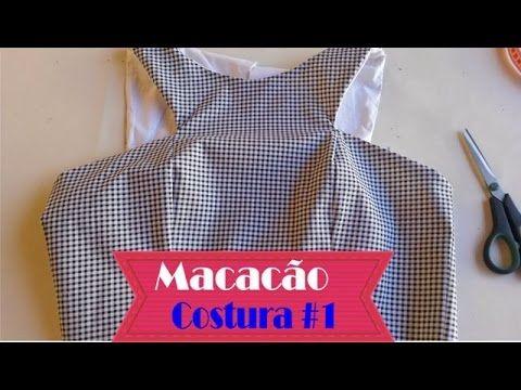 Macacão Xadrez Vichy - Aula de Costura 1de3 #VEDA5 - YouTube