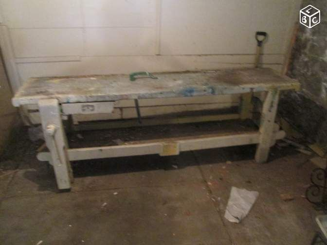 Etabli de menuisier ancien meuble de metier indus for Leboncoin moselle ameublement