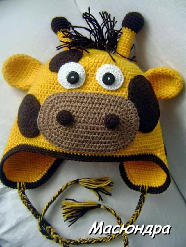 Jirafa | Crochet Hats | Pinterest | Häckeln, Mütze und Häkeln
