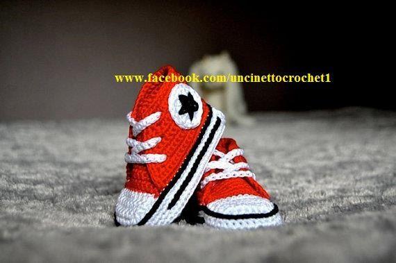 Patroon Gehaakte Baby Haak Converse Pasgeboren Sneakers Laarsjes All