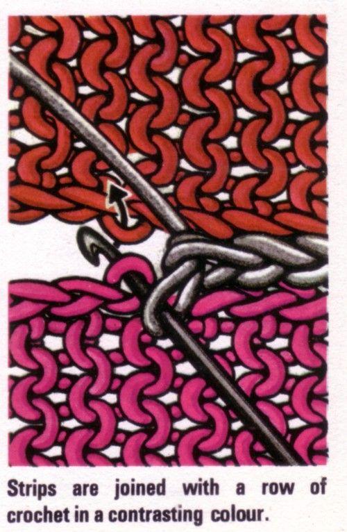 Photo of : Bli med på strikkede firkanter med hekling ✭Teresa Restegui www.pinterest.com … â …