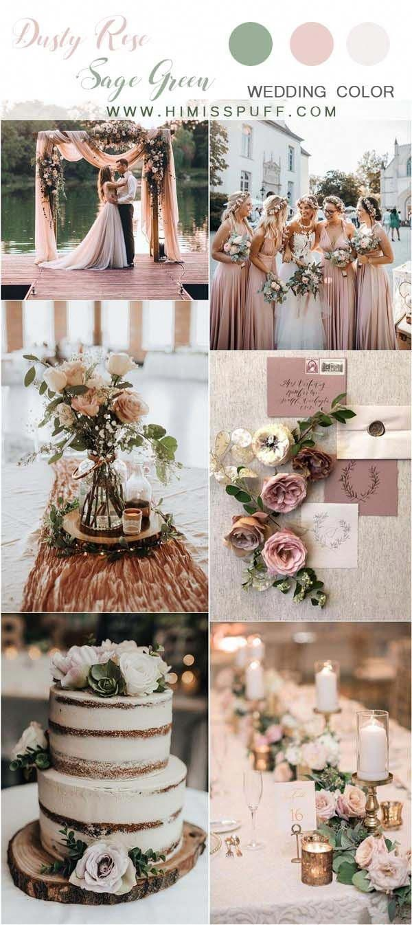 dusty rose and sage green wedding color ideas #wedding #weddings #weddingcolors …