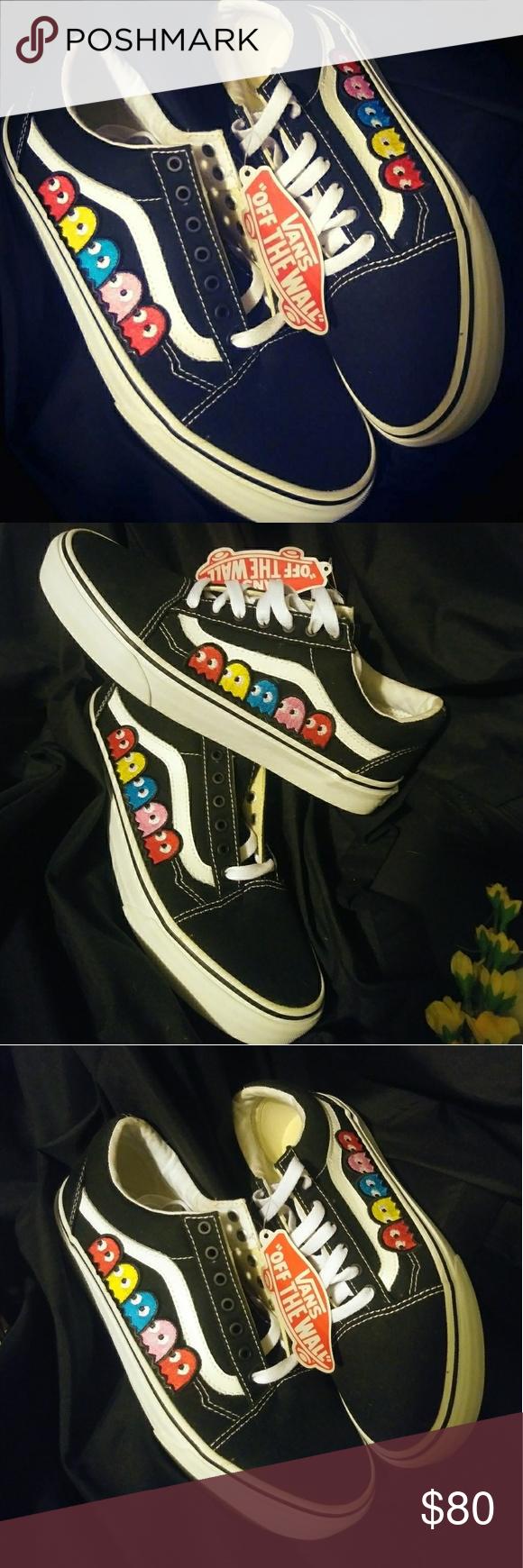 f8625fa2673 ✂ 🏷️VANS custom 'Old Skool' (Pac Man) Vans 'Old Skool' black ...