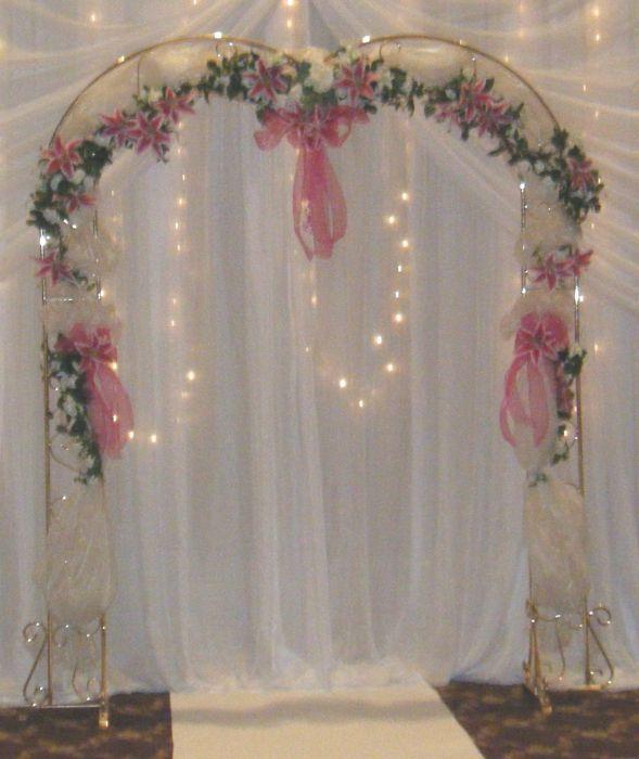 Bridal Arch Brass Heart Shape Wedding Arch Wedding Arch Flowers