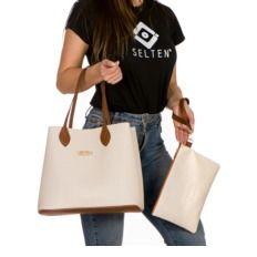 a8f745ca0 Bolsa Shopper Capodarte Antonela Bege/Marrom/Caramelo - Compre Agora |  Dafiti Brasil