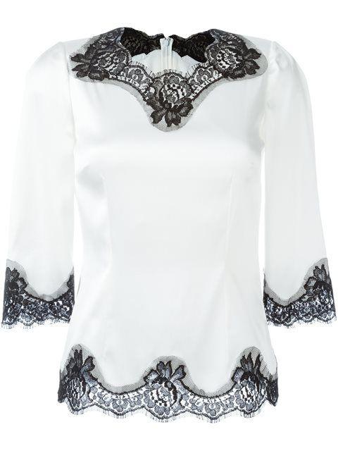 bfef8f1e3f6 Dolce   Gabbana кружевная блузка