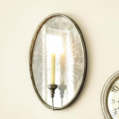 oval mirrored candle wall sconce Bedroom Decor Pinterest Wall sconces, Art walls and Wall ...