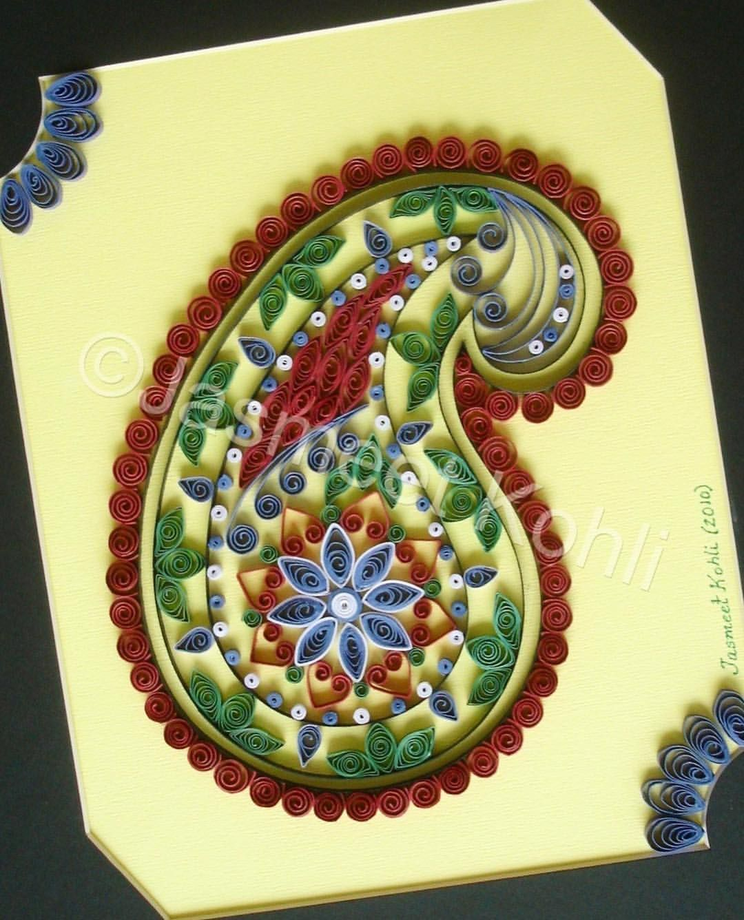 From my Archive #paisley #paperquilling #quilling #paperart ...