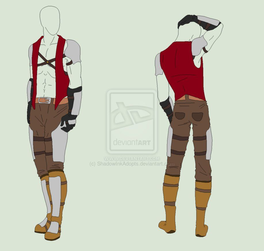 Outfit Adopt - Fist Fighter Armor - SOLD By ShadowInkAdopts On DeviantART | Medieval FASHION ...