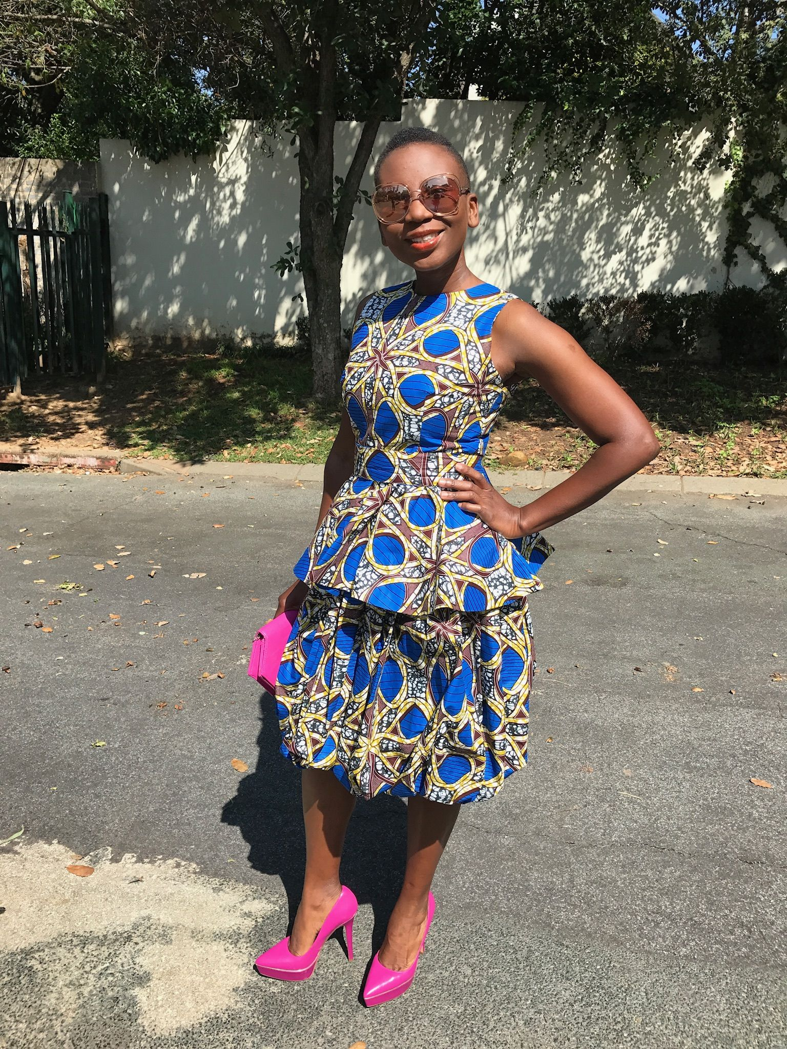 Wedding guest outfit African print