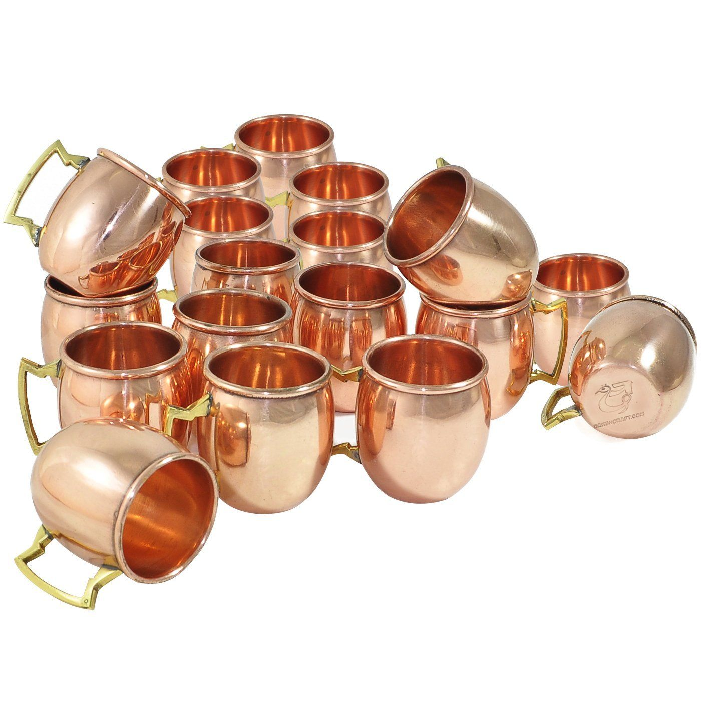 Amazon.com   DakshCraft ® Handmade Pure Copper Solid Shot Mugs(Capacity 2 oz), Set of 18: Beer Mugs & Steins