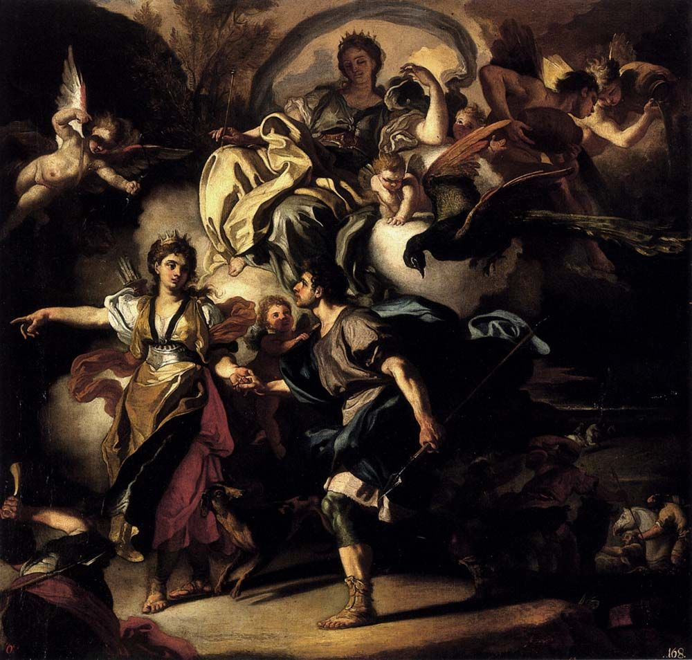 francesco solimena 16571747 the royal hunt of dido and