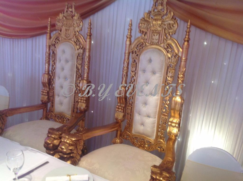 Gold Lion Throne Chairs Hire Only 163 150 Gold Wedding Sofa