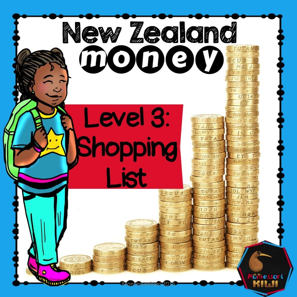 New Zealand Money Level 3 Shopping List