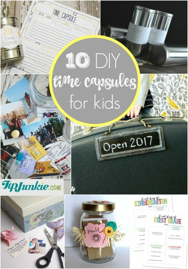 10 How To Make Time Capsules For Kids Time Capsule Make Time