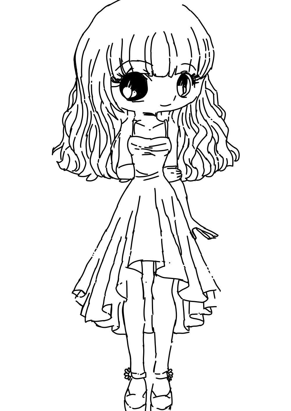 #аниме#арт#девочка | Раскраски, Рисунки и Цифровые штампы