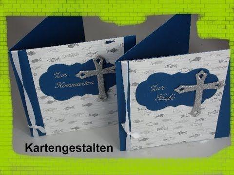 karte zur kommunion / taufe / konfirmation basteln - cardmaking, Einladung