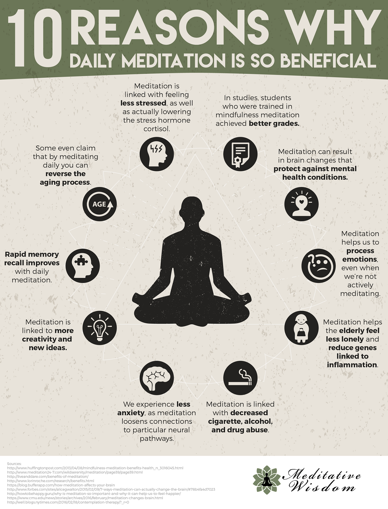10 Reasons Why Daily Meditation is so Beneficial #Infographic