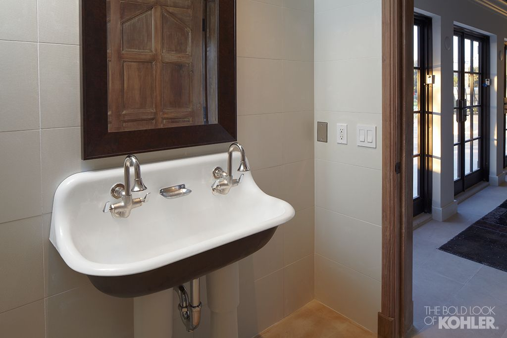 The Bold Look Of Kohler Small Vintage Bathroomdouble Sink