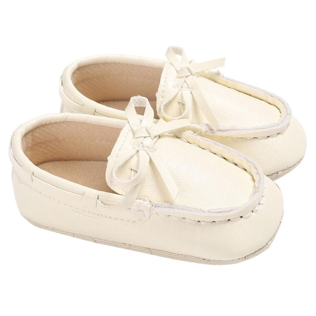 52e2d003843 Voberry Baby Toddler Girl Boys  Leather Slip-On Loafers Tassel Bowknot Flat  Shoes Sneakers (6~12 Month