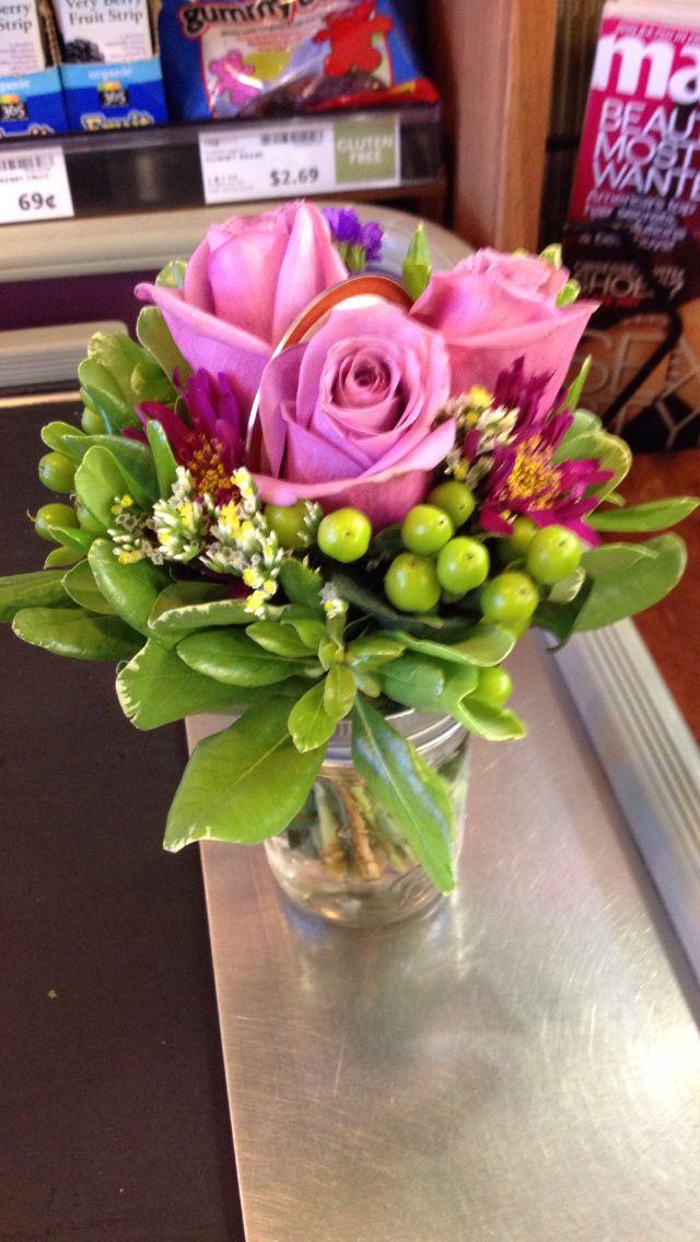 Mason Jar Flower Arrangements From Whole Foods