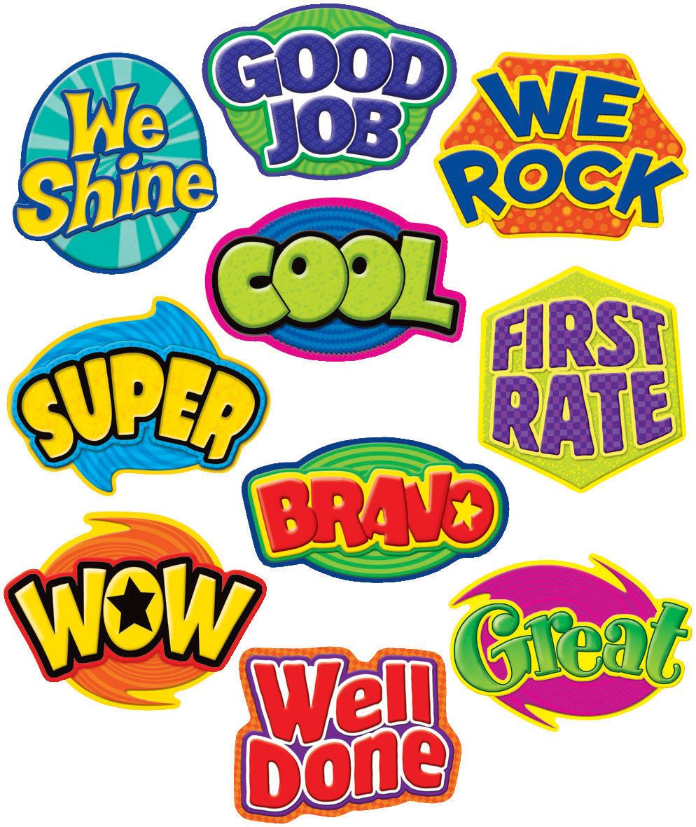 positive words stickers sock