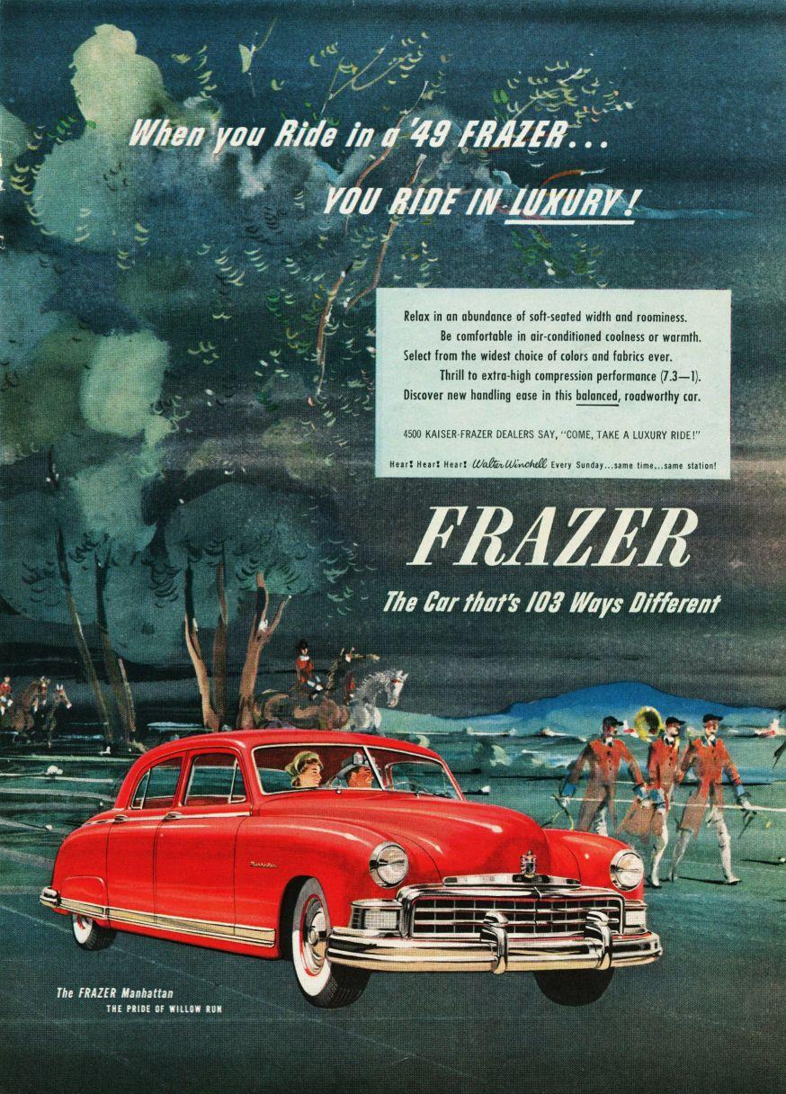 Kaiser and frazer motor cars 1947 frazer manhattan kaiser frazer corporation pinterest motor car and cars