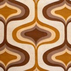 Rétro Tissu Géométrique Brun Coupon