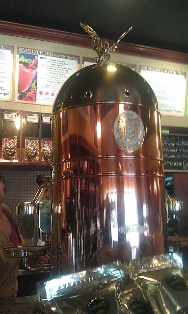 Espresso machine at Toronto's The Golden Mint cafe. Just ...