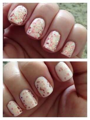 """Rose Bubbles"" by milly. Hand blended nail lacquer glitter top coat"
